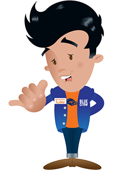 The UTSA Libraries polled students in a crowdsourced naming activity last month, and by popular demand our new Blue Crew character's name is . . . Lou! Please welcome the newest member of the Blue Crew family.